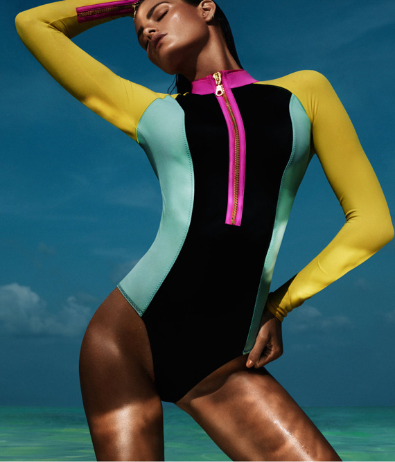 H&M neon swimsuit