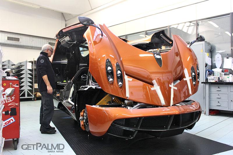 pagani automobili factory tour - pagani huayra being built
