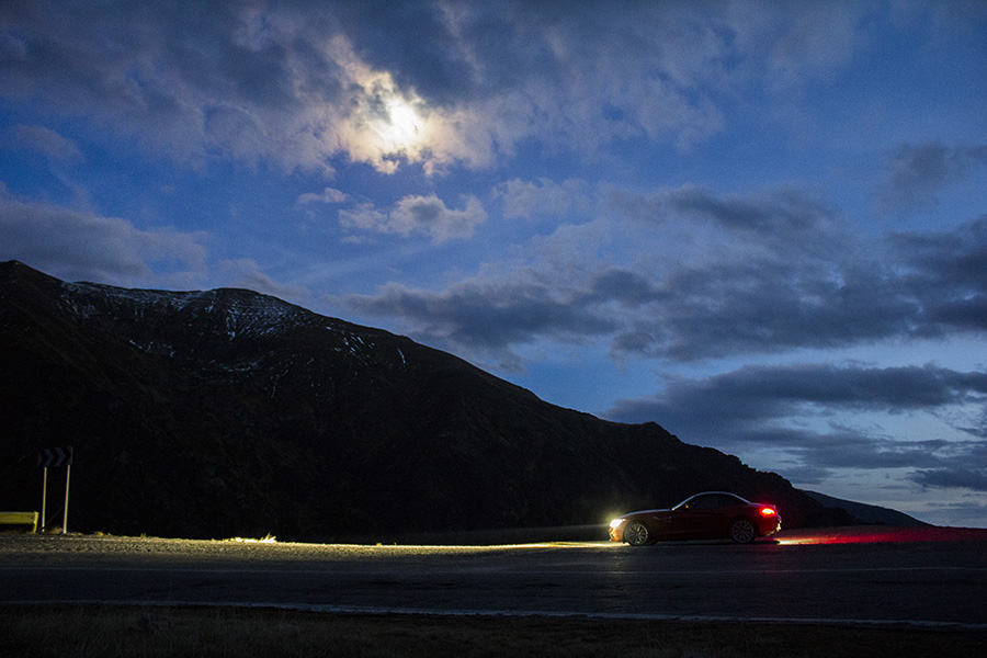 Transfagarasan Highway by night