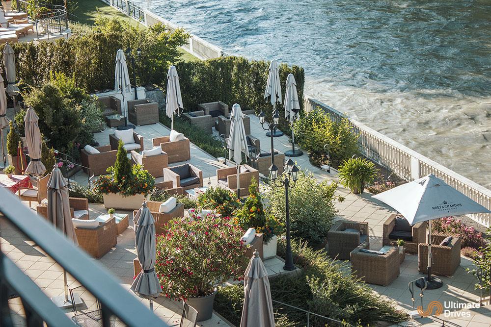 Grand Hotel Lienz sun terrace