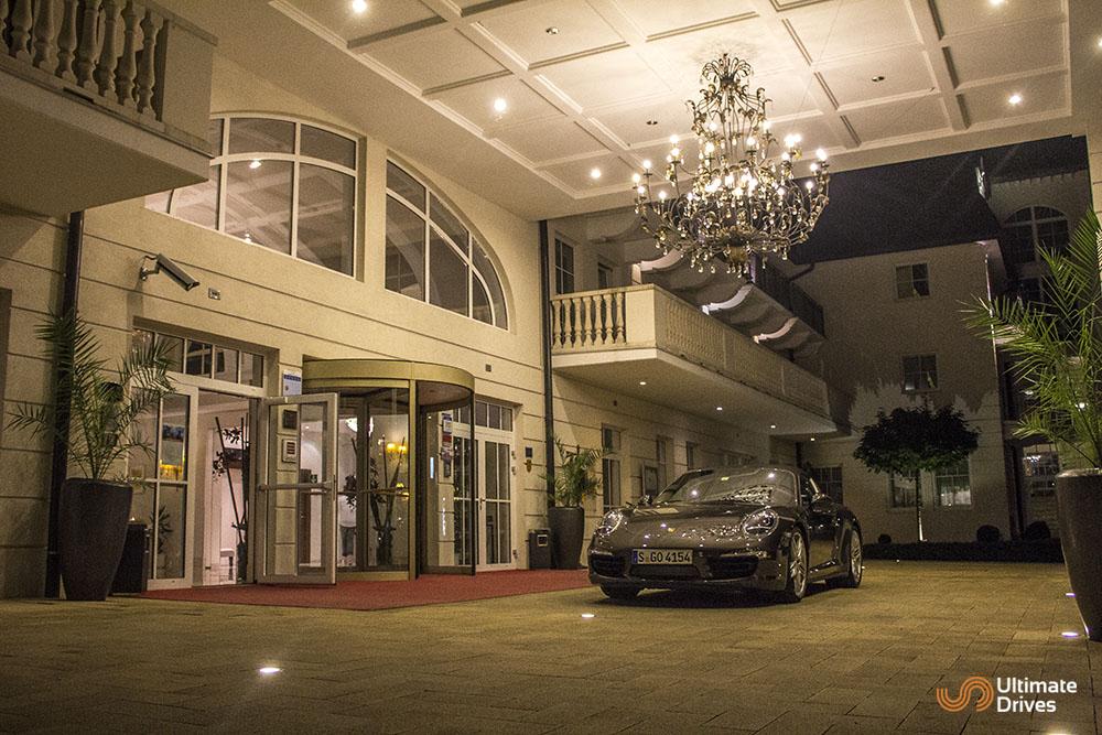 Porsche outside Grand Hotel Lienz