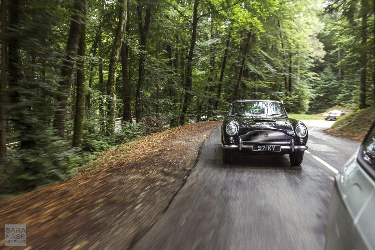 Aston Martin DB5 rolling