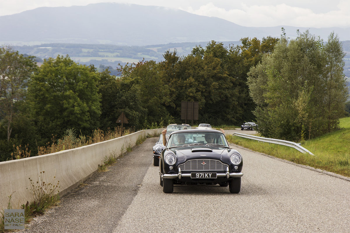 Classic cars on road