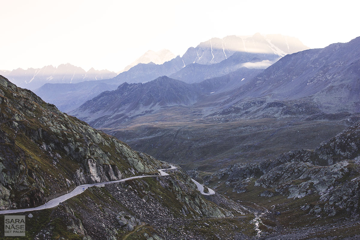 Great St Bernard Pass morning