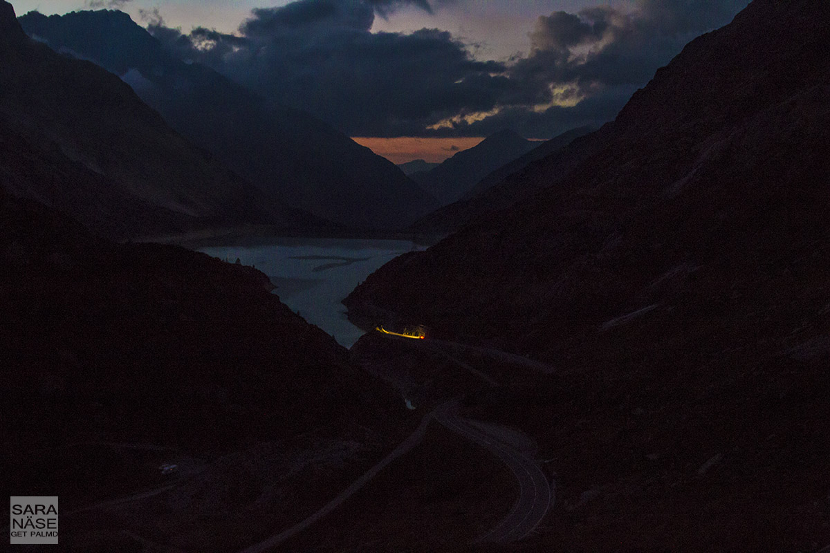 Grimsel Pass by night