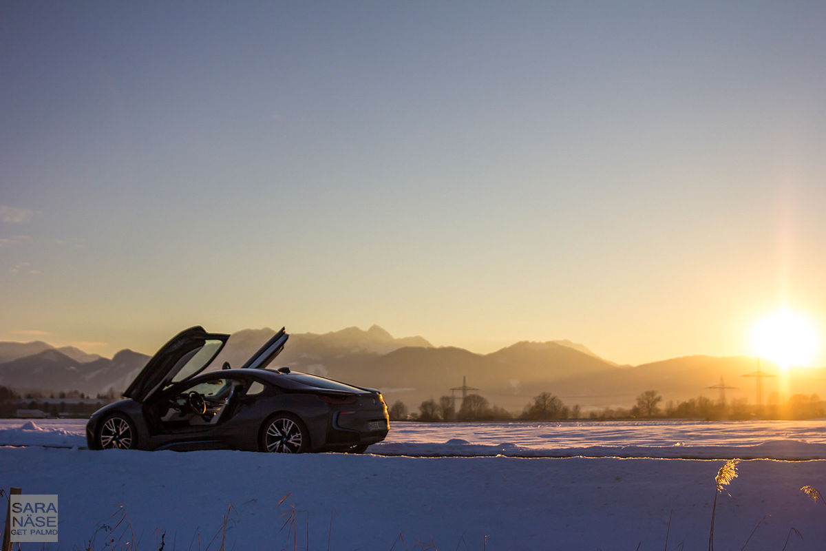 Sunset-with-BMW-i8