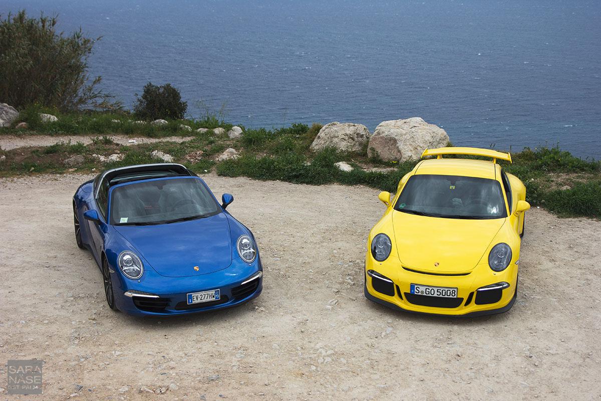 Blue 911 Targa Yellow GT3