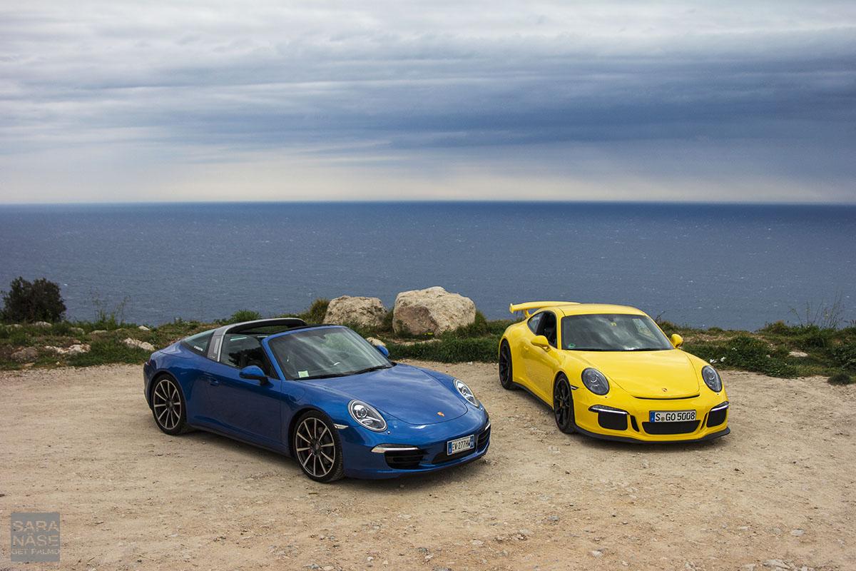 Porsches on La Turbie
