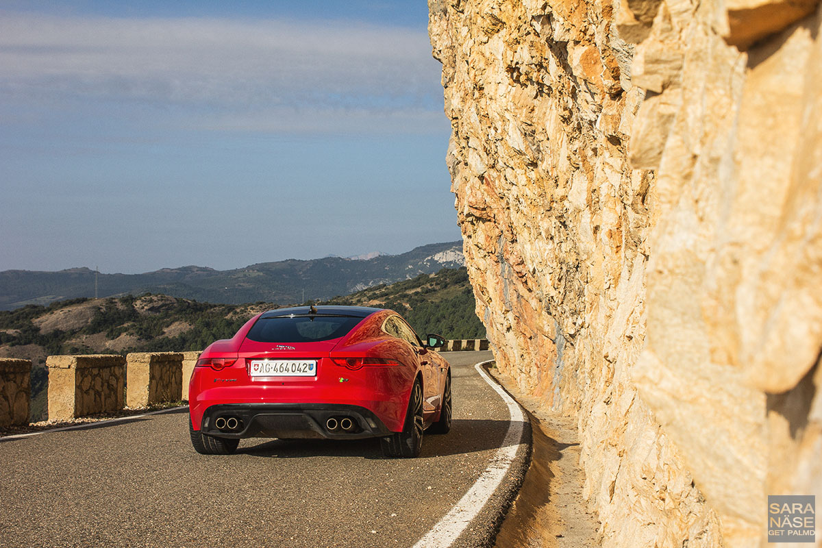 Spanish mountain road F-Type