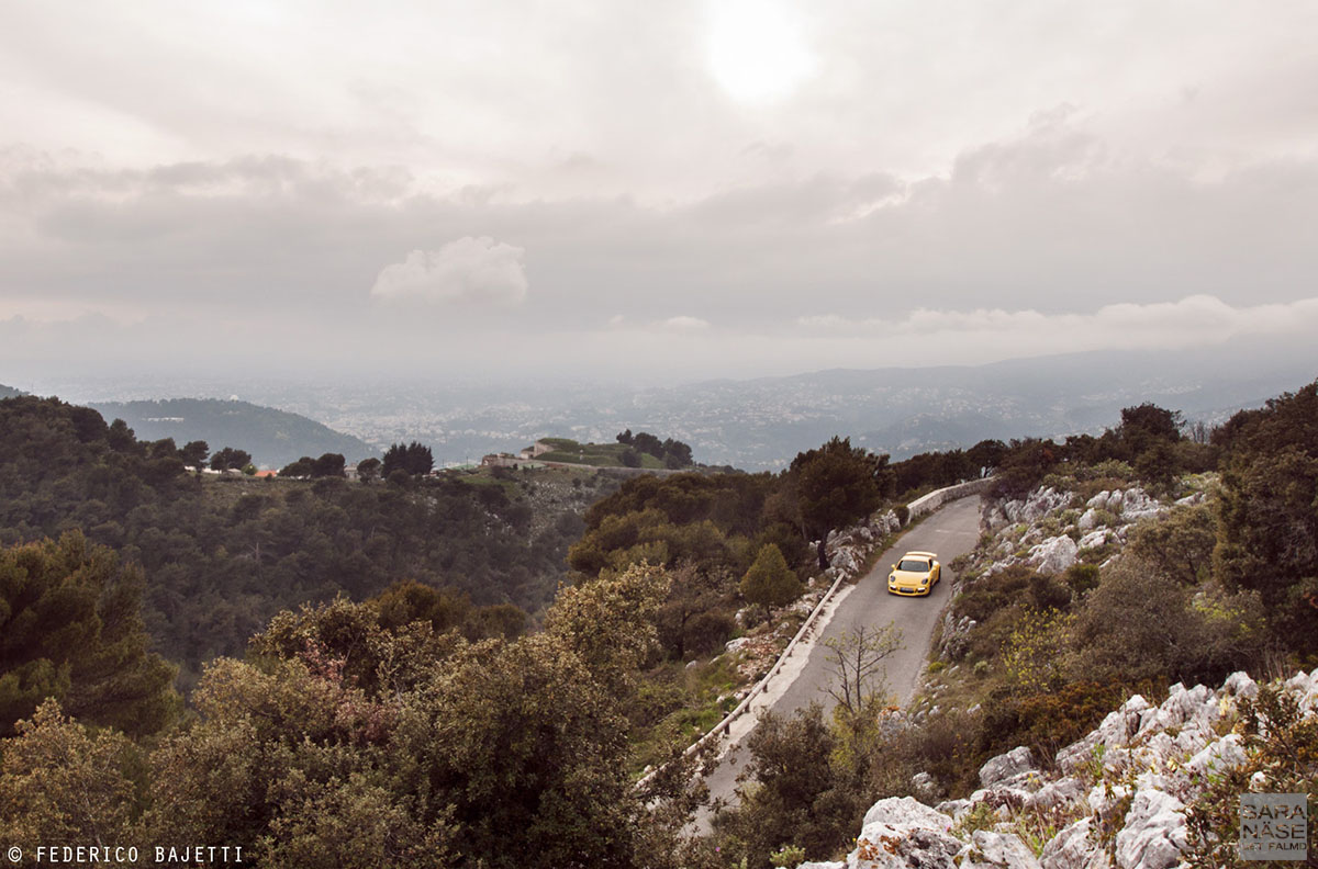 Yellow GT3 up in hills