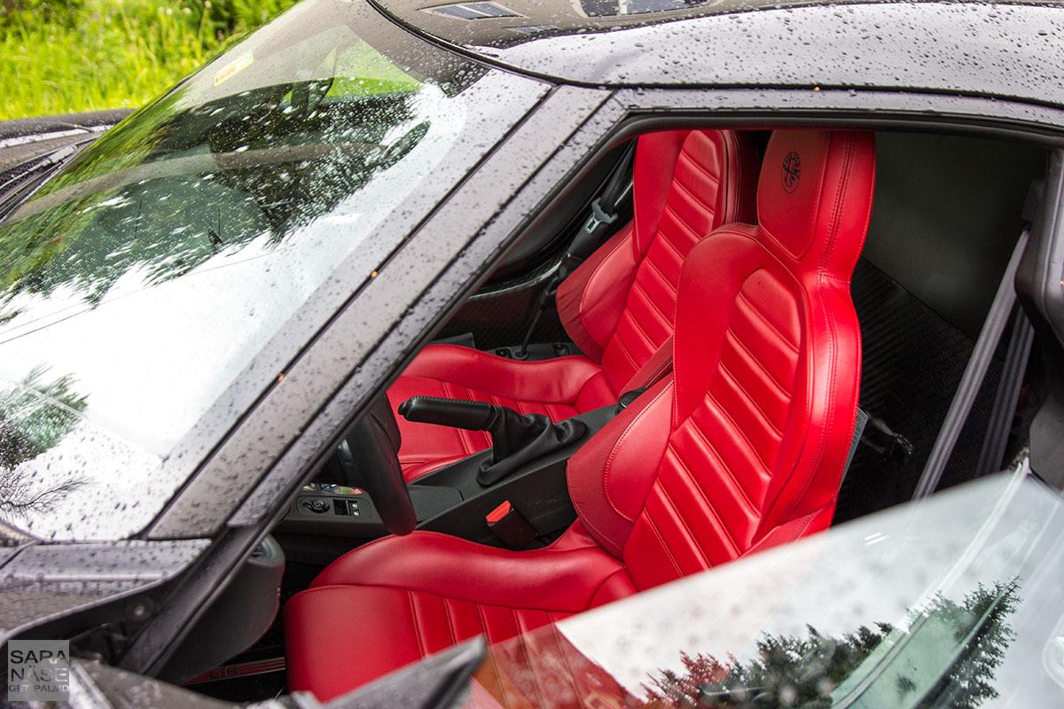 Alfa Romeo 4C red leather seats