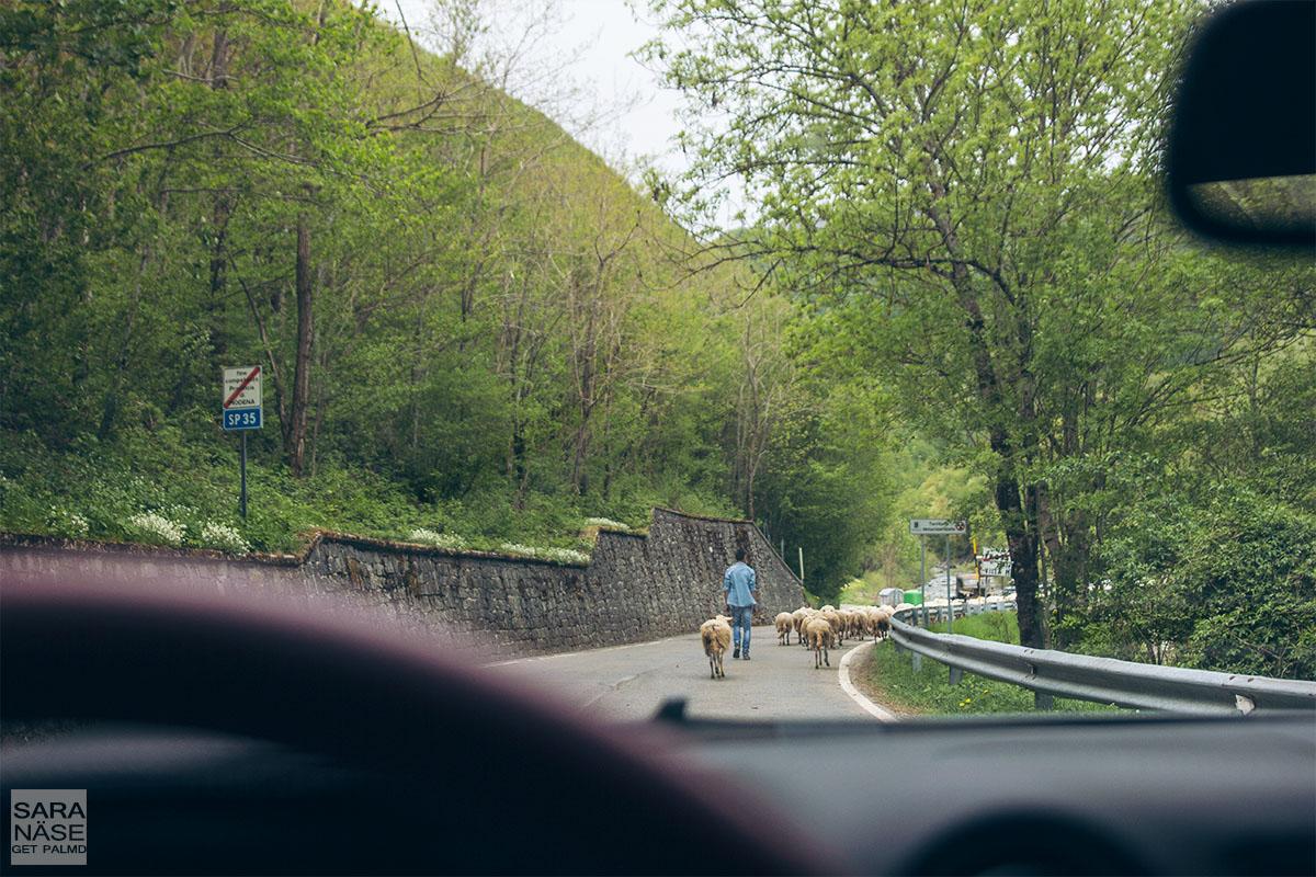 Apennines mountain traffic