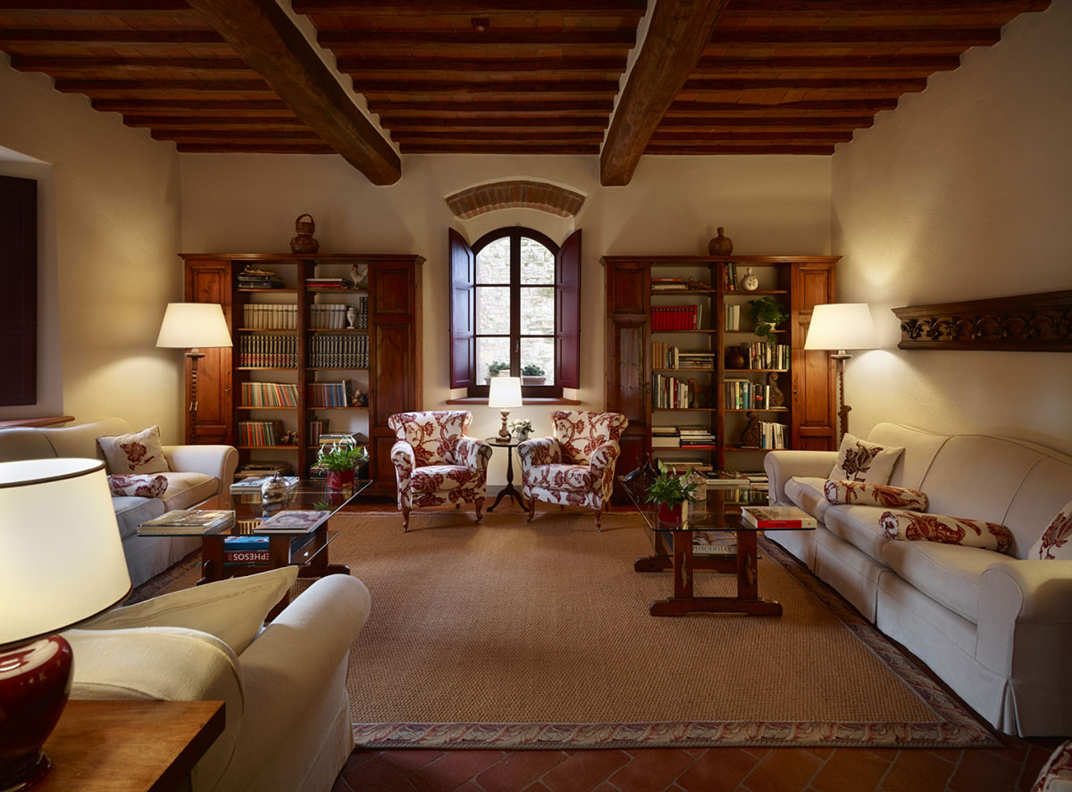 Hotel Le Fontanelle library