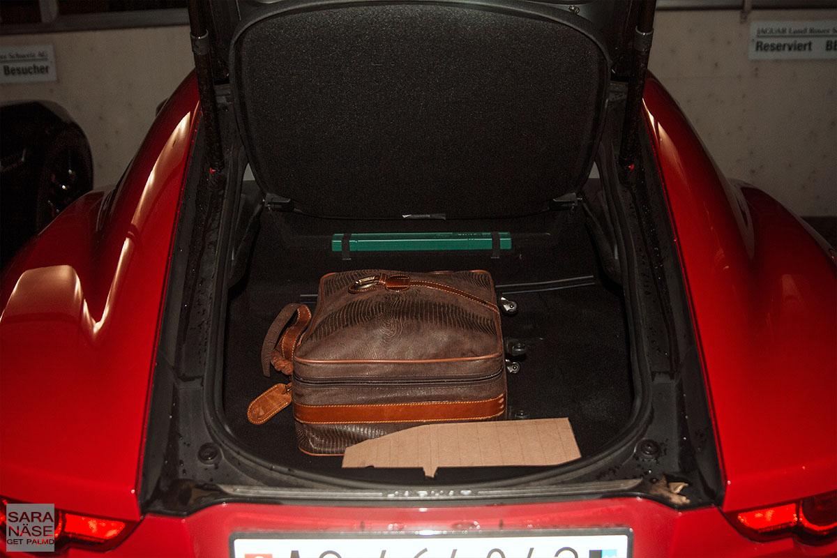 Jaguar F-Type Coupe trunk