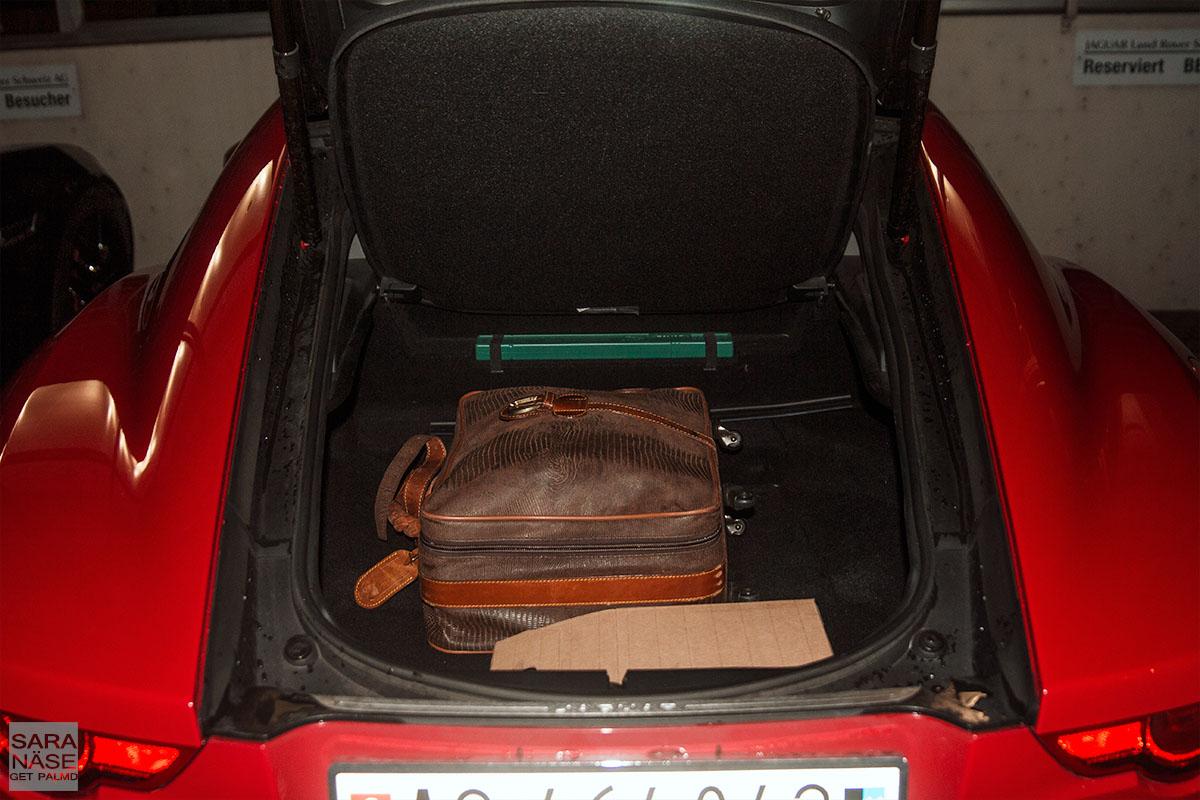 Jaguar F-Type Coupe trunk
