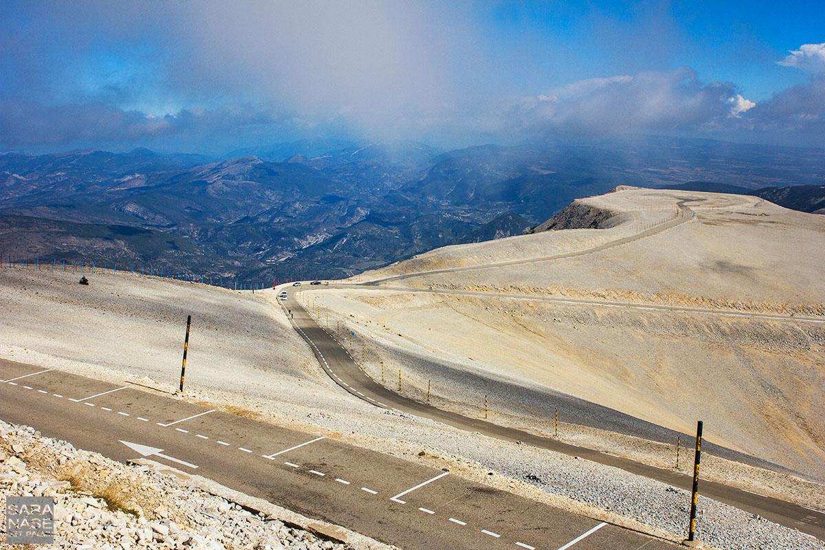 Mont Ventoux view down