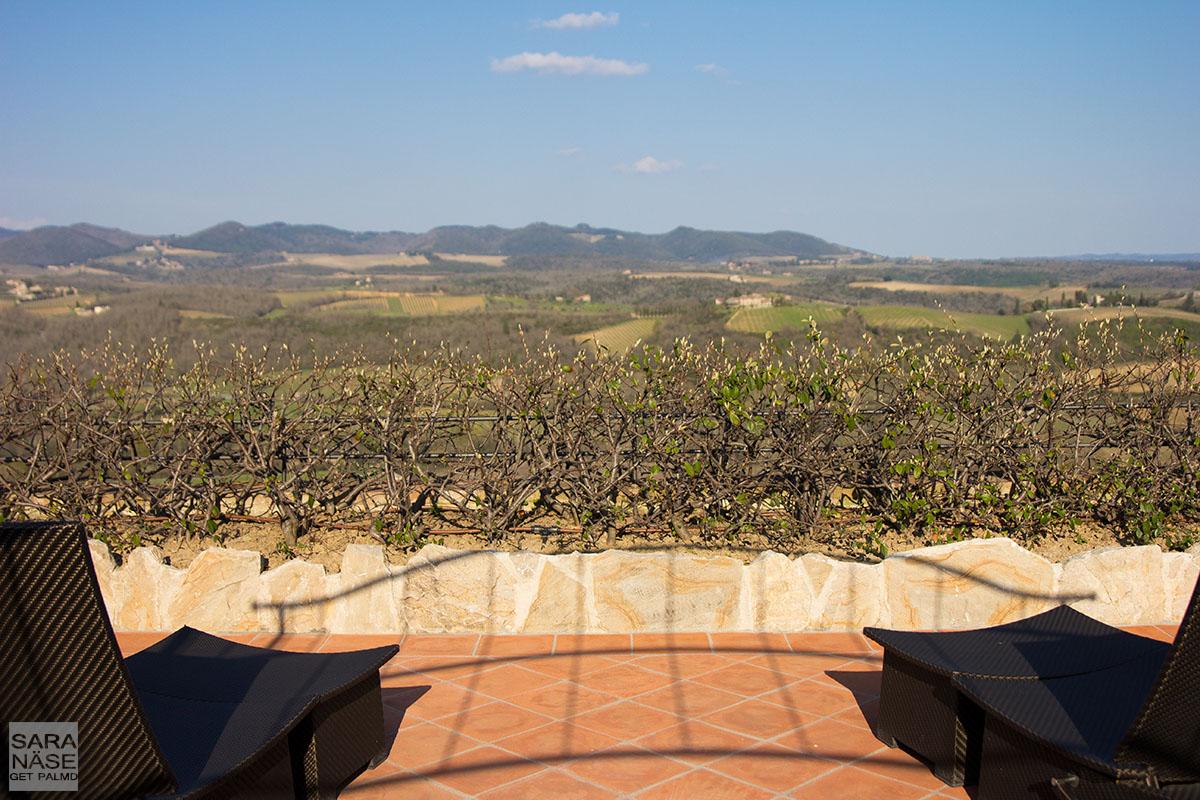 Private terrace Le Fontanelle