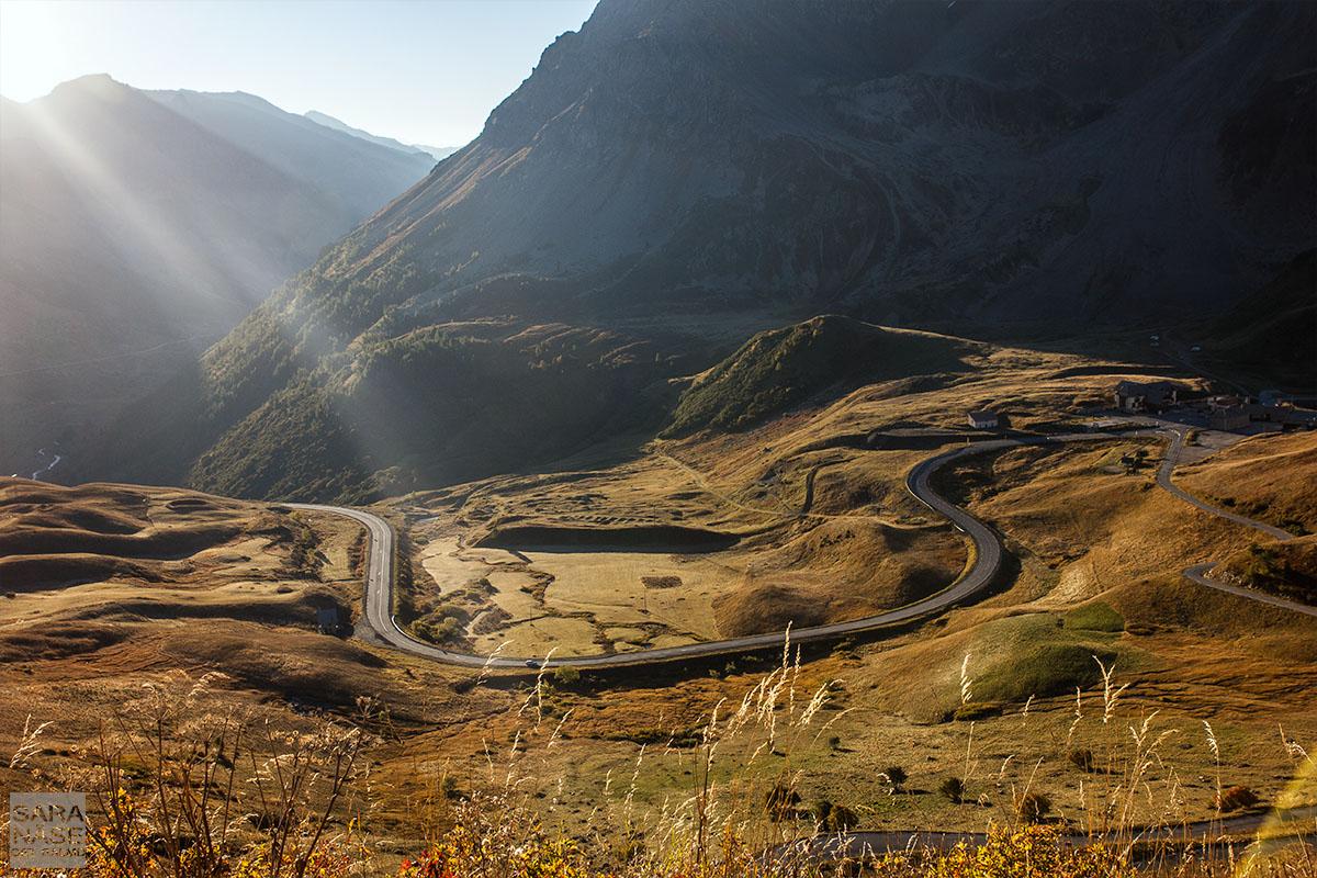 Sunrise mountain road