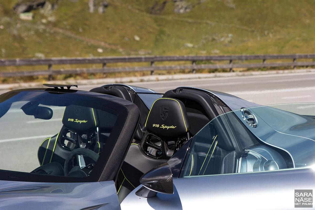 918 Spyder seat