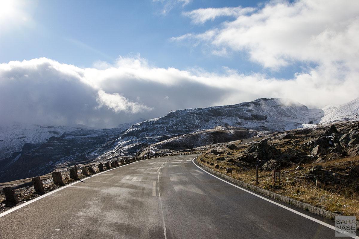 Grossglockner morning road