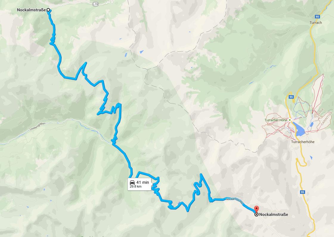 Nockalm Road map