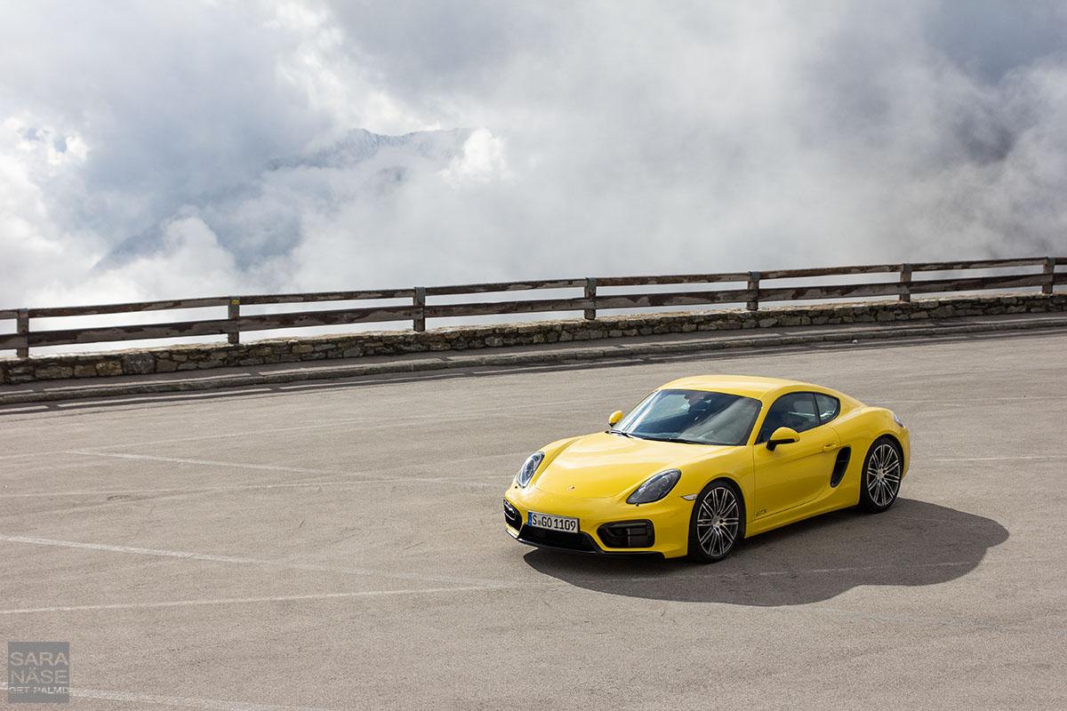 Porsche Cayman yellow