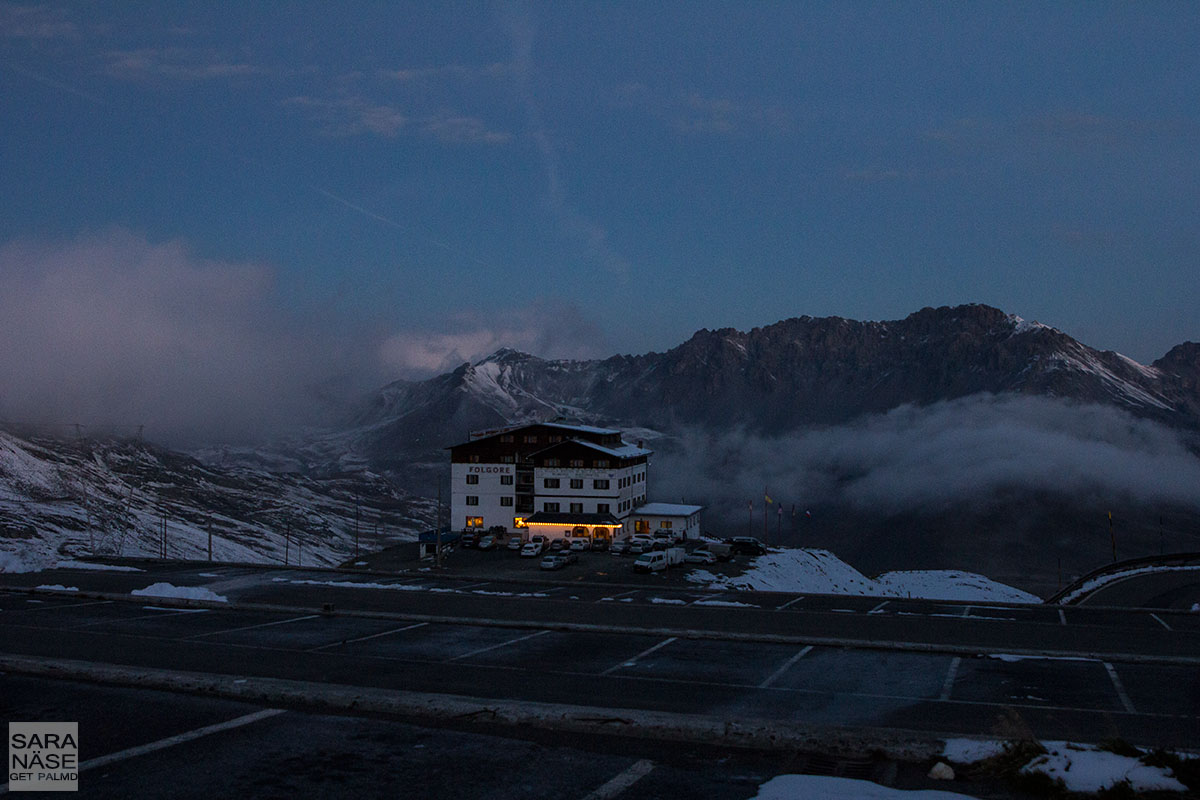 Stelvio morning clouds