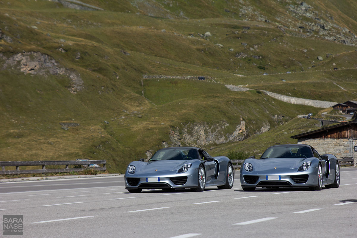 Two silver 918s