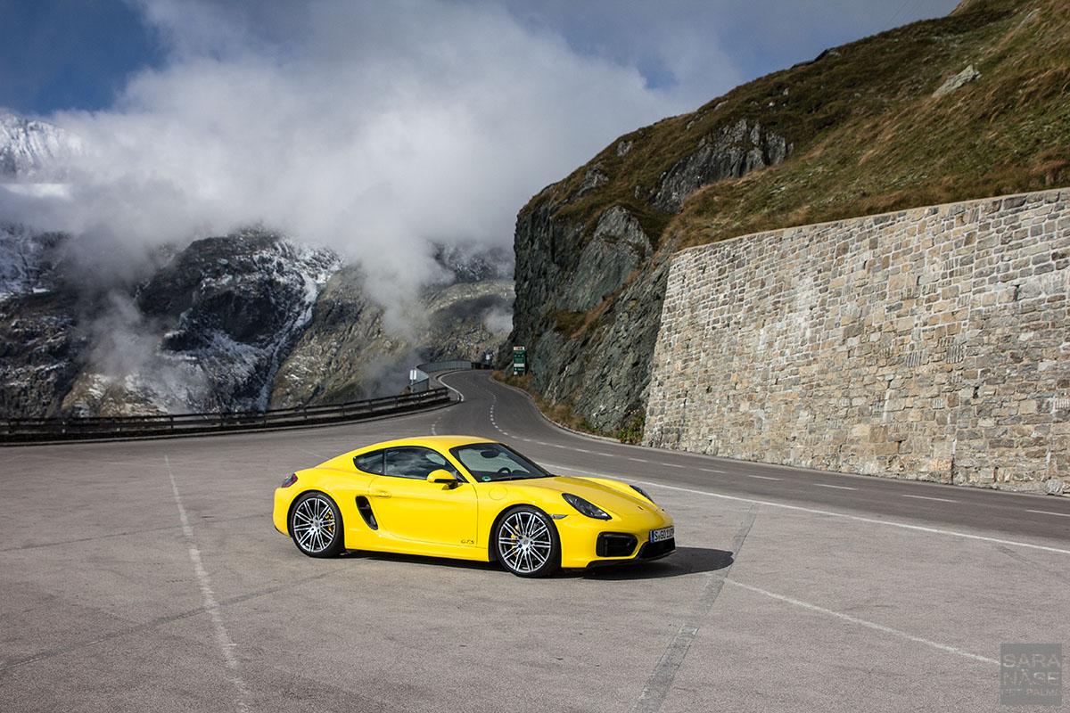 Yellow Porsche CaymanGTS