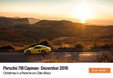 Porsche 718 Cayman road trip