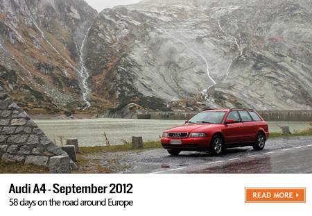 Audi A4 road trip