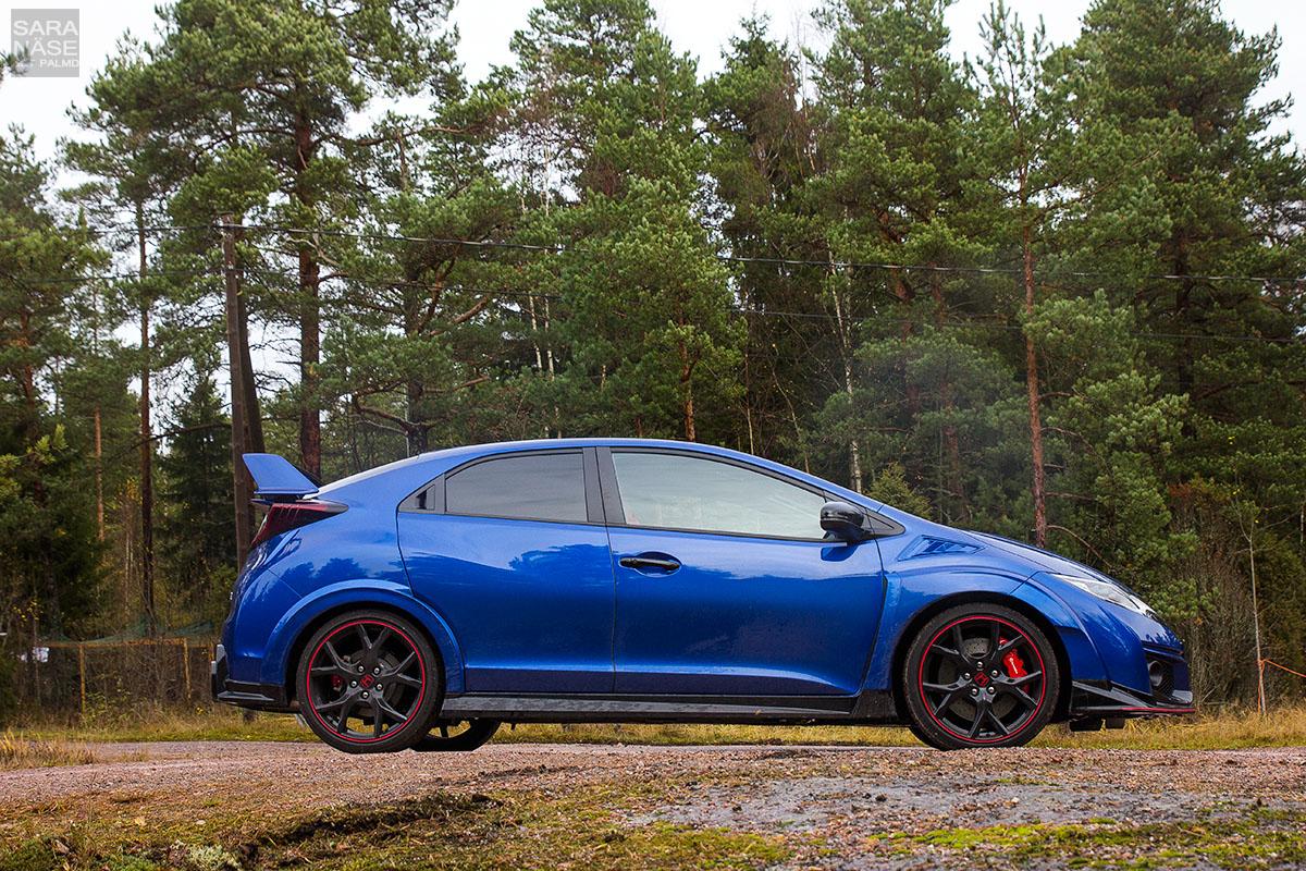 Honda Civic Type R blue profile