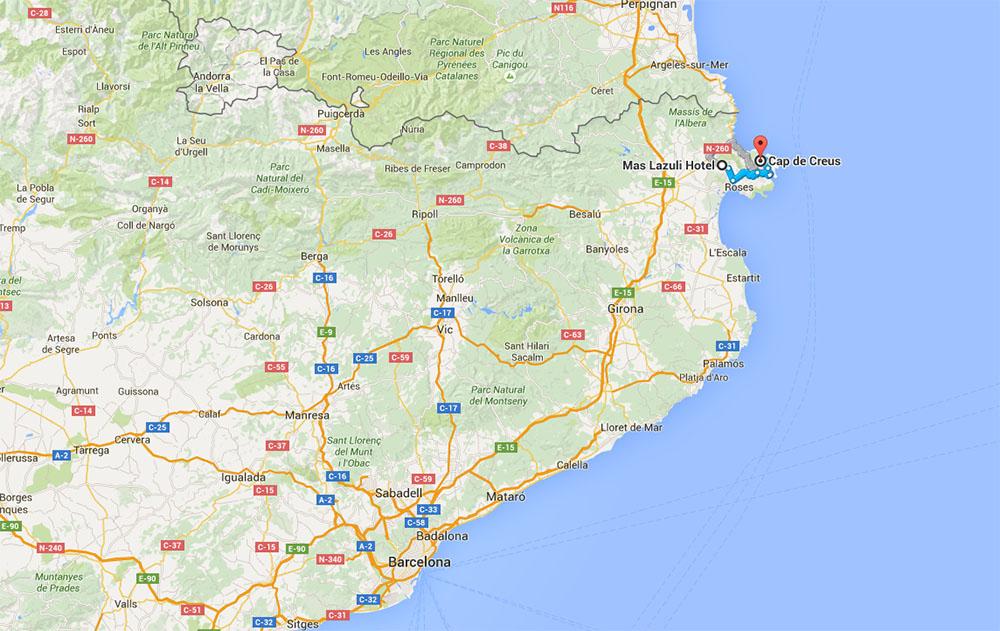 Mas Lazuli on map