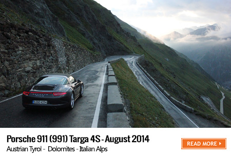 Porsche Targa 4S road trip