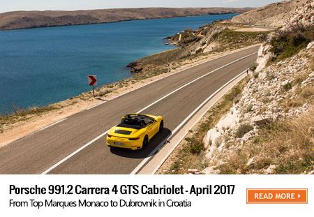 Porsche 911 Carrera 4 GTS Cabriolet road trip to Croatia