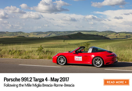 Porsche 991 Targa 4 road trip - Mille Miglia 2017
