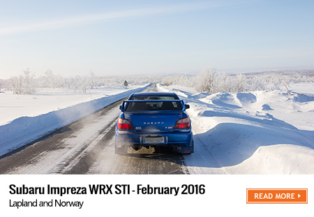 Subaru Impreza winter road trip