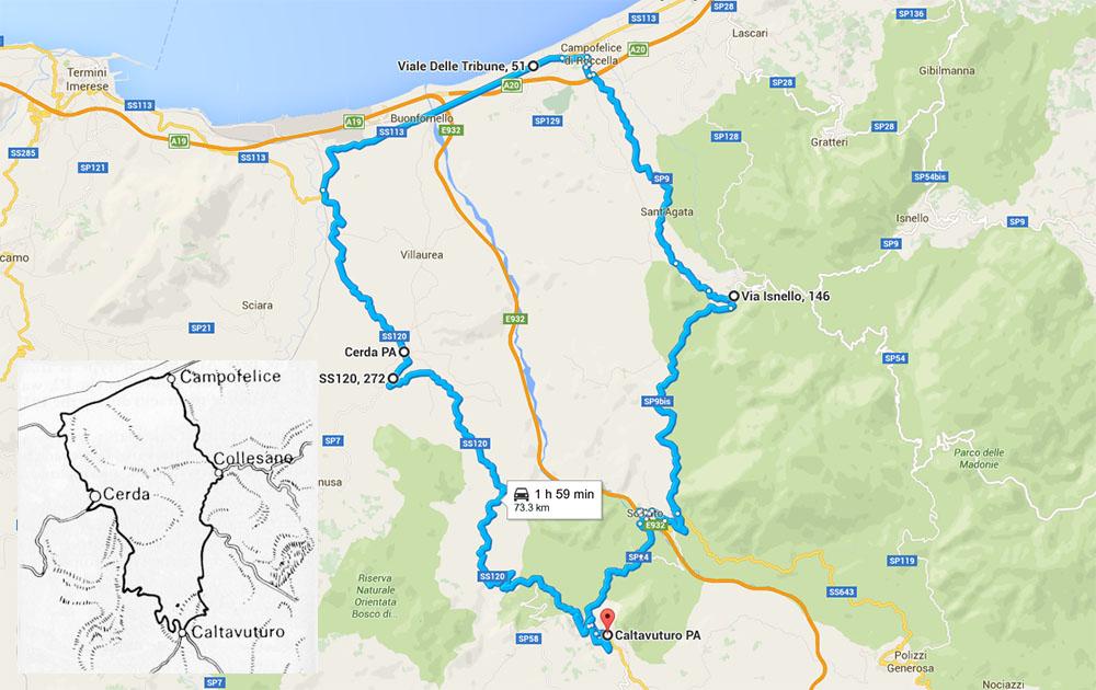 Targa Florio 72km route