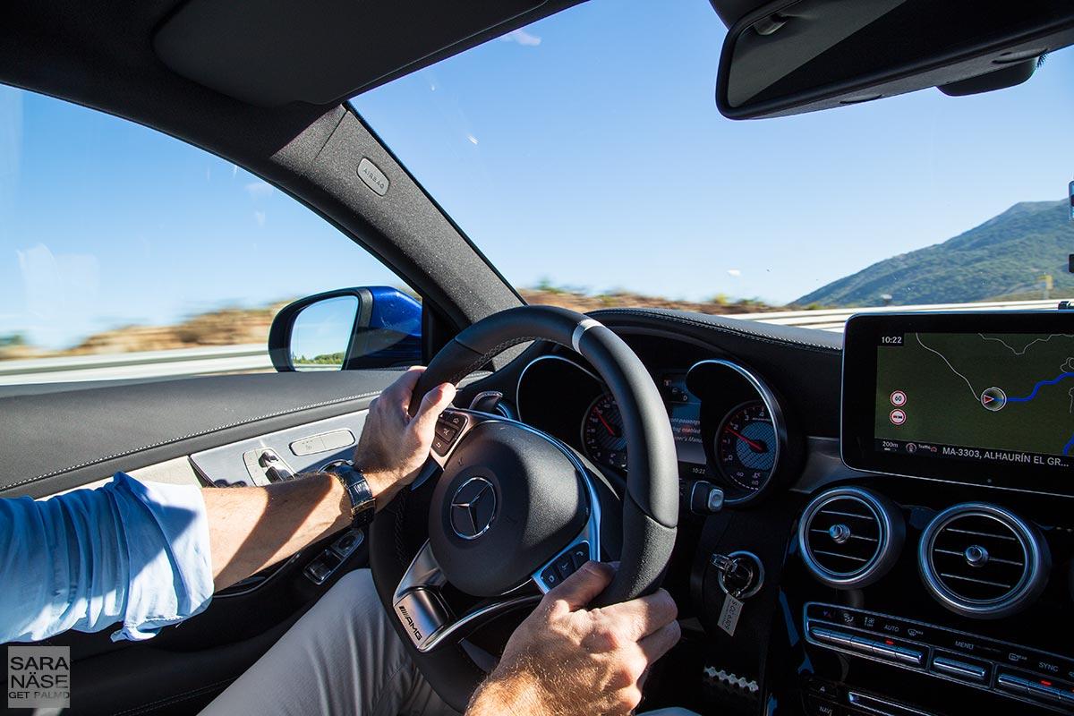 Driving-C63-AMG