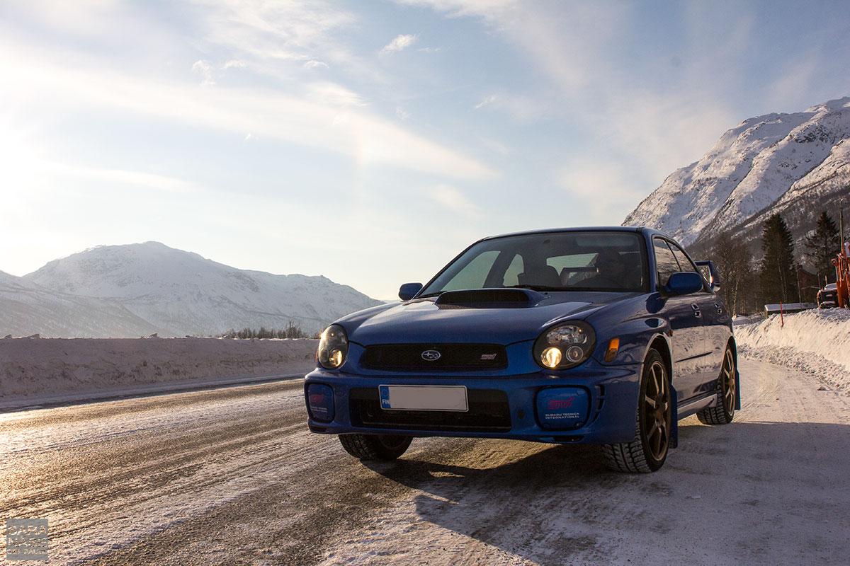 Blue Subaru Impreza