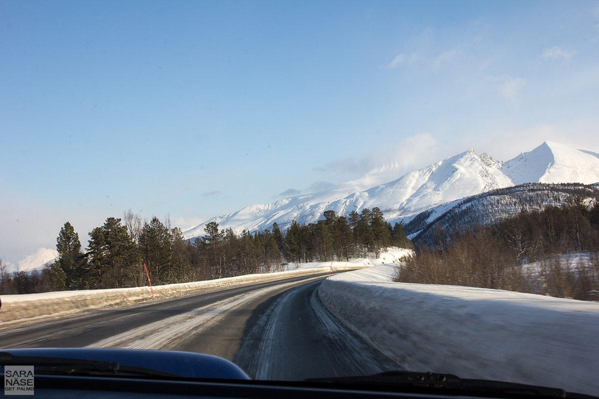 Norway winter road