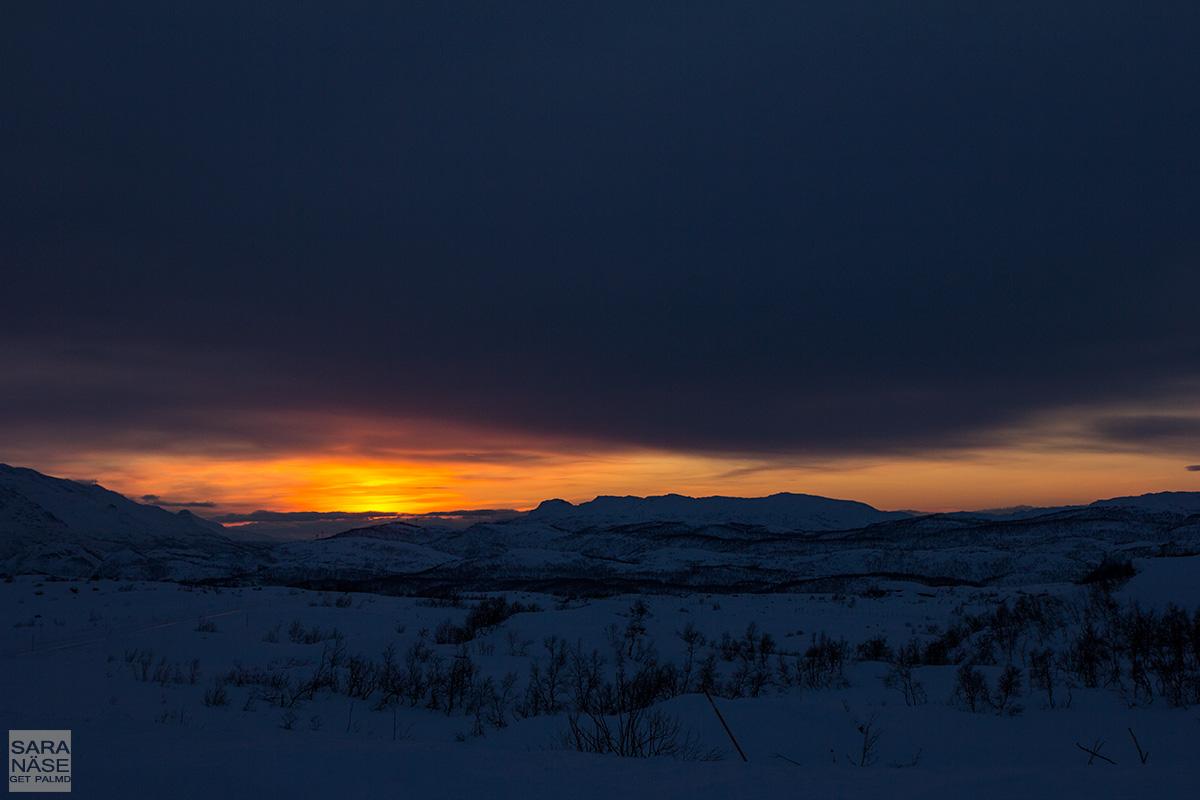 Norway winter sunset