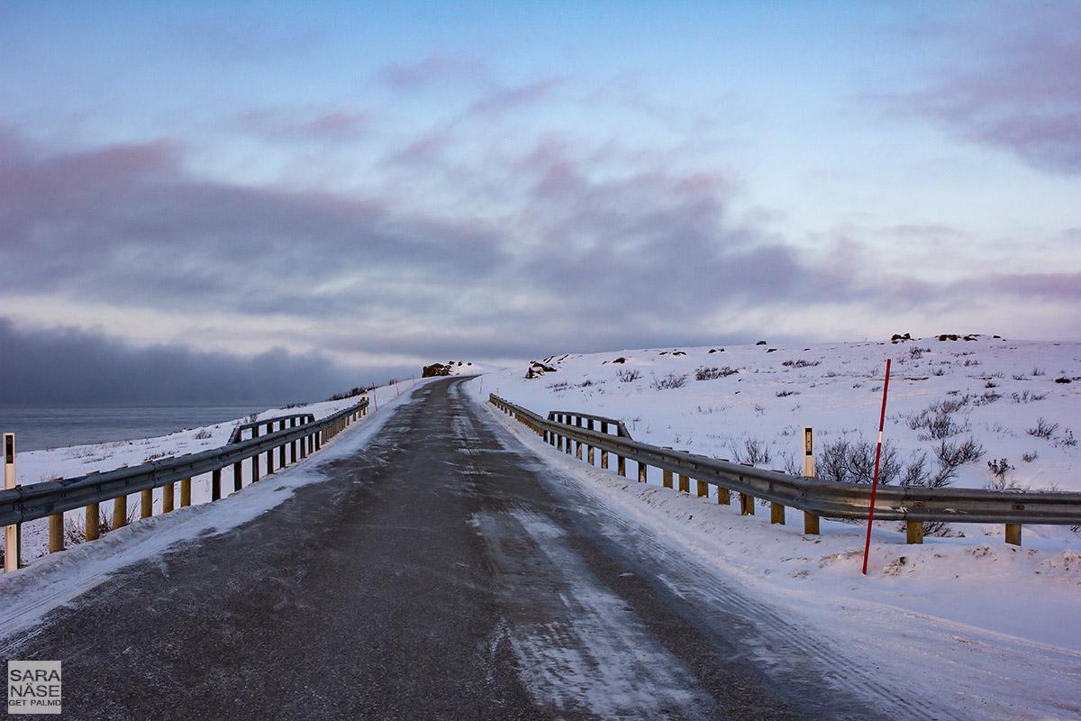 Vadso-road-sunrise-colours