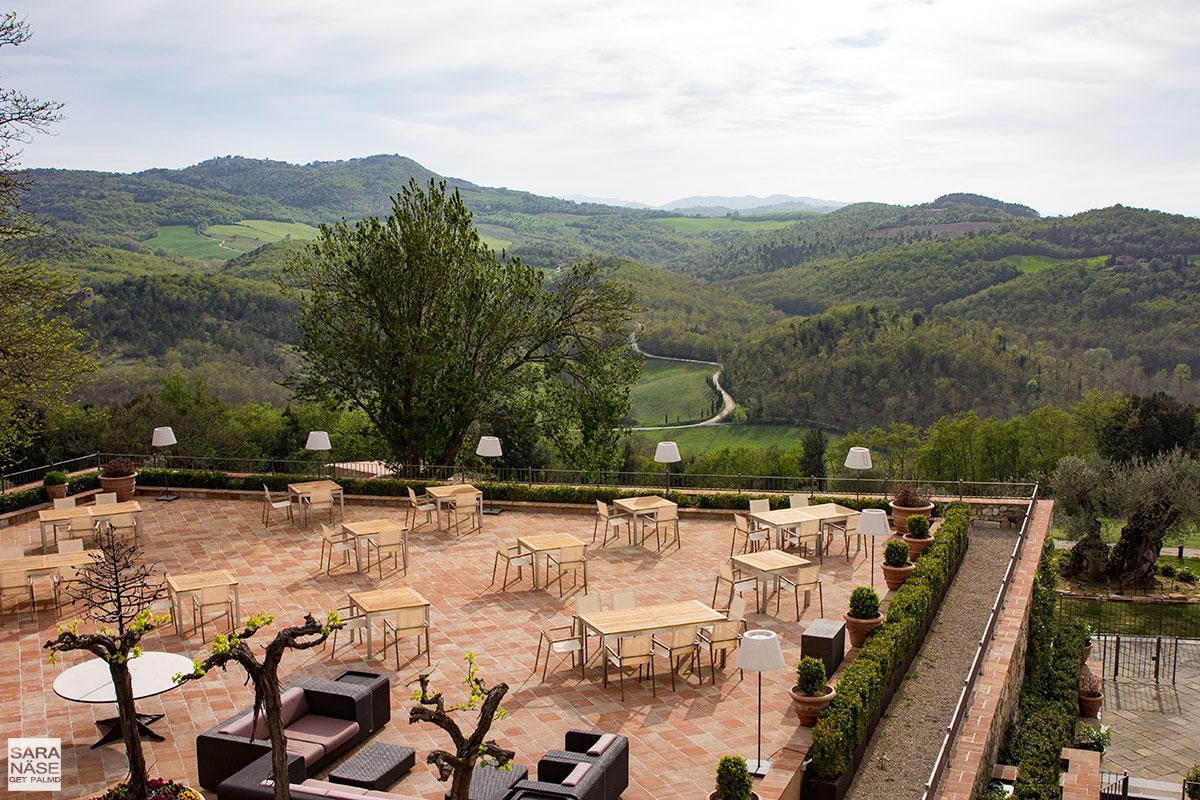 Castello di Casole terrace