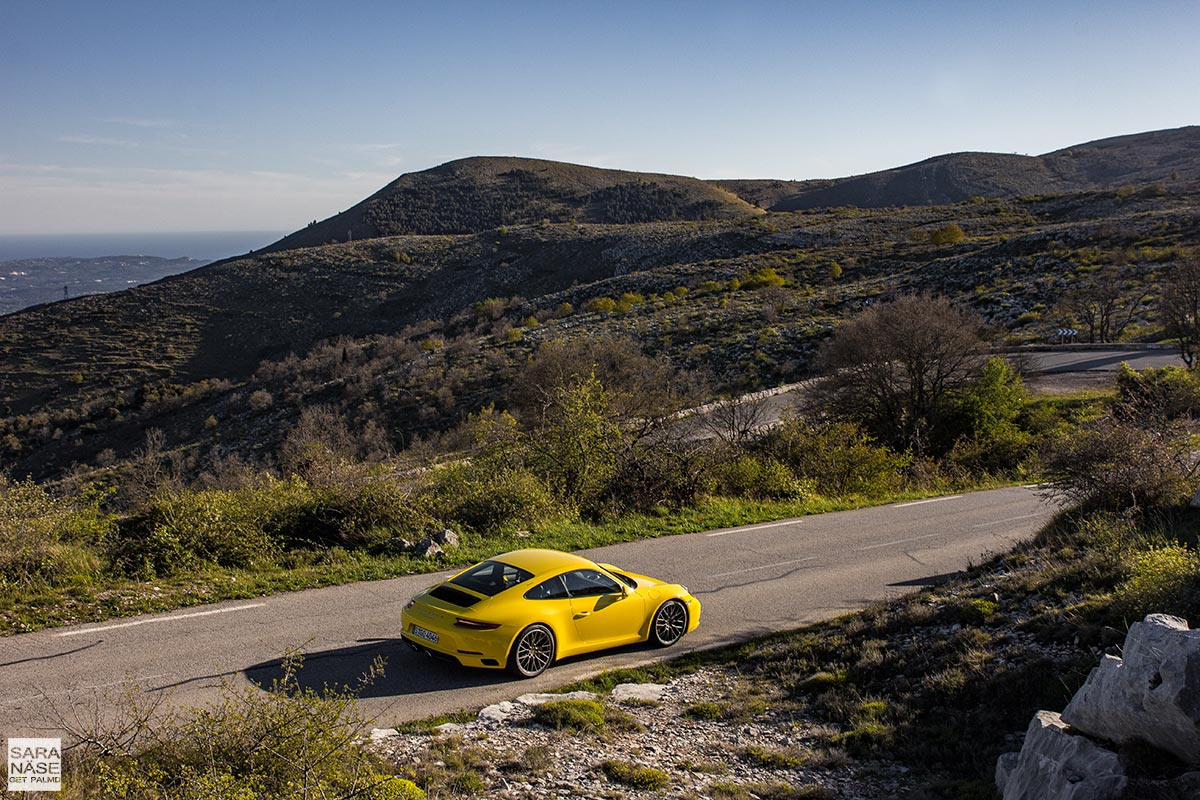 Porsche 911 Carrera S on beautiful driving road