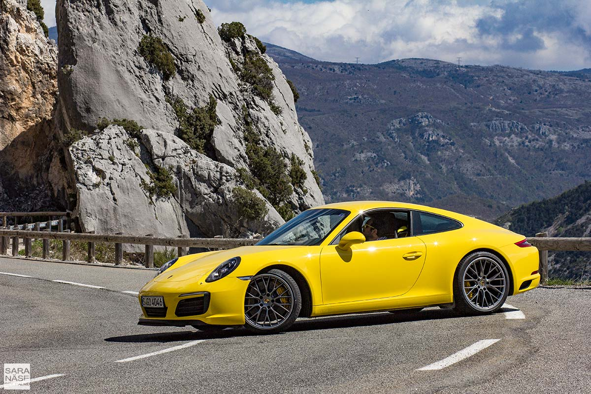 A Beautiful Driving Road For A Yellow Porsche