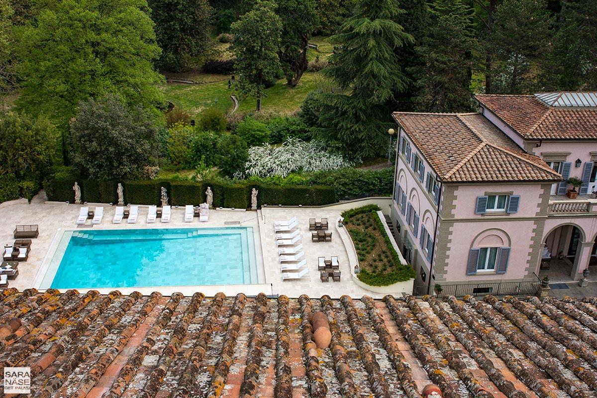 Villa Cora pool view