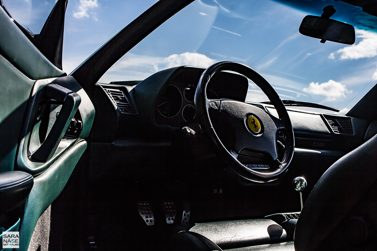 Ferrari F355 berlinetta interior with steering wheel