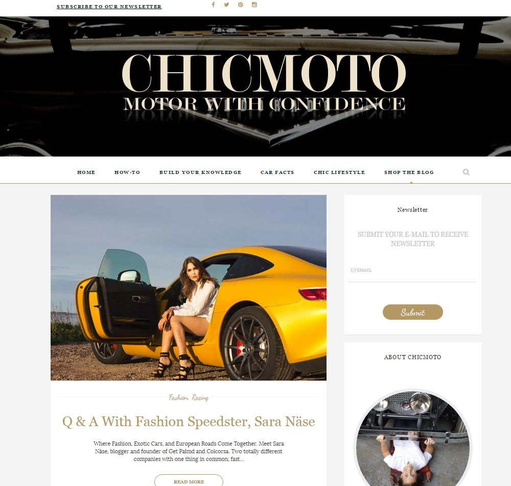 Chicmoto Motor With Confidence - Car blog for women