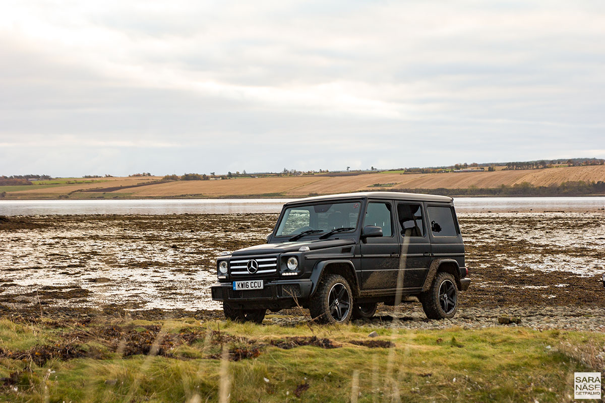 Mercedes benz g class coast to coast in scotland for Matte black mercedes benz
